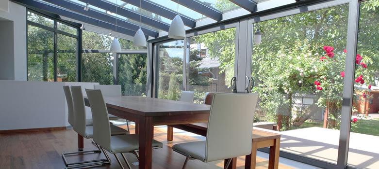 aluminium conservatories the pros and cons find me quotes. Black Bedroom Furniture Sets. Home Design Ideas